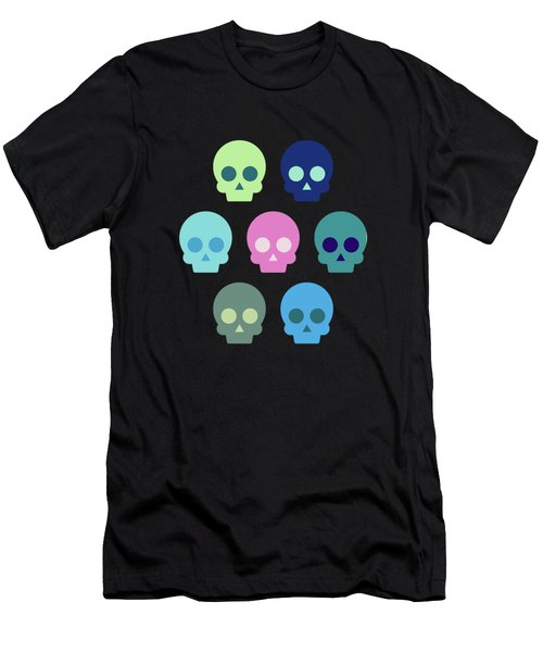 Colorful Skull Cute Pattern Men's T-Shirt (Athletic Fit)