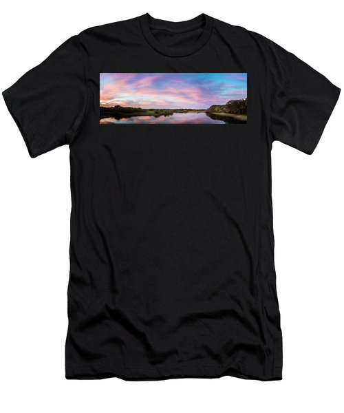 Colorful Sky Men's T-Shirt (Athletic Fit)