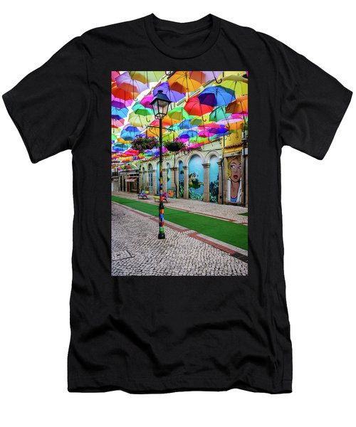 Colorful Street Men's T-Shirt (Athletic Fit)