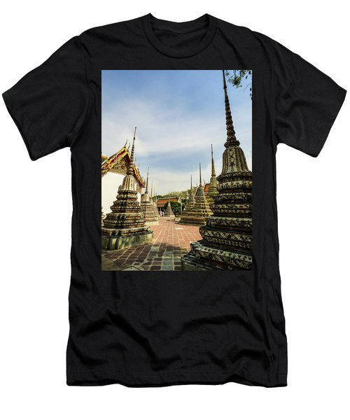 Colorful Stupas At Wat Pho Temple Men's T-Shirt (Athletic Fit)