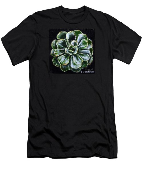 Colorful Succulent Men's T-Shirt (Athletic Fit)