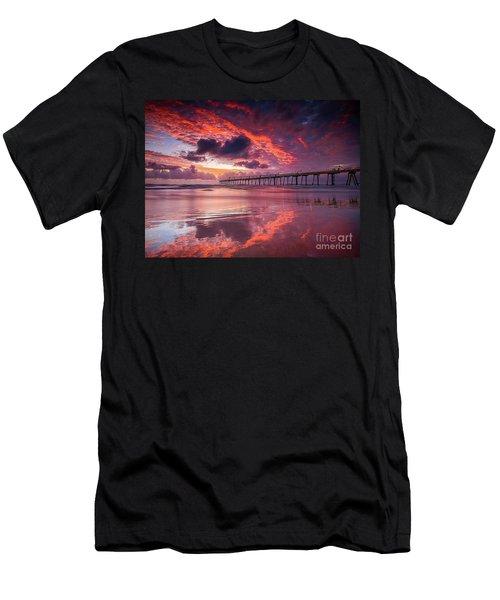 Colorful Sunrise Men's T-Shirt (Athletic Fit)