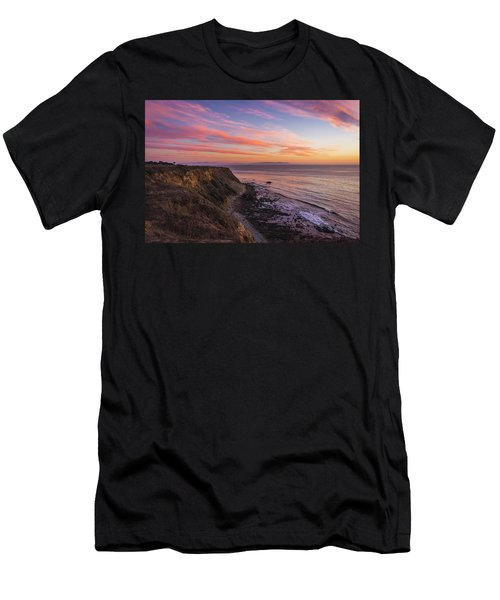 Colorful Sunset At Golden Cove Men's T-Shirt (Athletic Fit)
