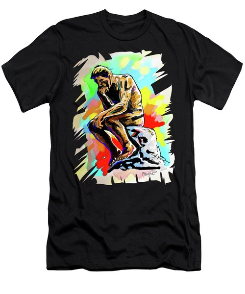 Colorful Thinker Men's T-Shirt (Athletic Fit)