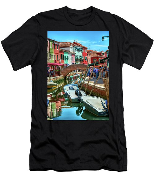 Colorful View In Burano Men's T-Shirt (Athletic Fit)