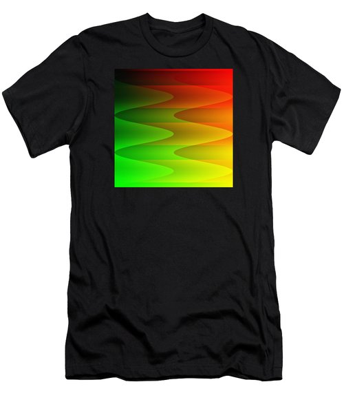 Men's T-Shirt (Slim Fit) featuring the digital art Colorful Waves by Kathleen Sartoris