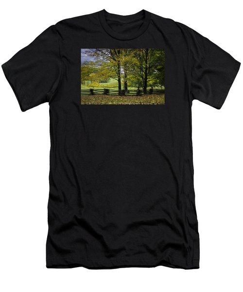 Men's T-Shirt (Athletic Fit) featuring the photograph Colors At Mac Rae Field by Ken Barrett
