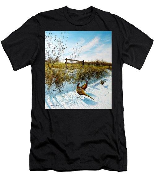 Colors Of Winter - Pheasants Men's T-Shirt (Athletic Fit)
