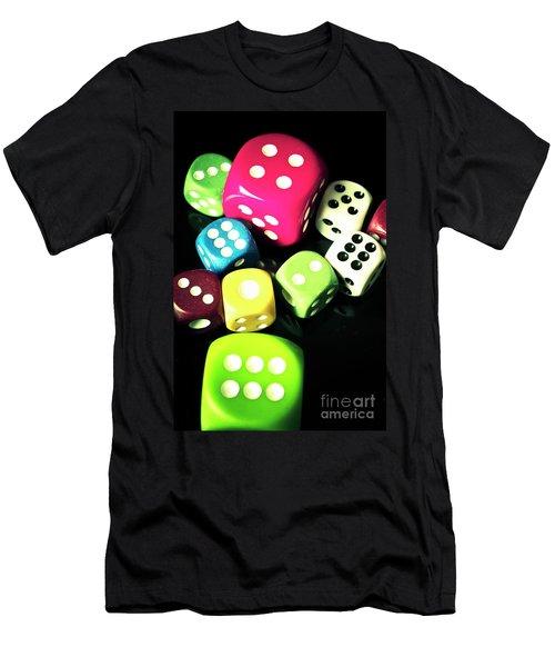 Colourful Casino Dice  Men's T-Shirt (Athletic Fit)