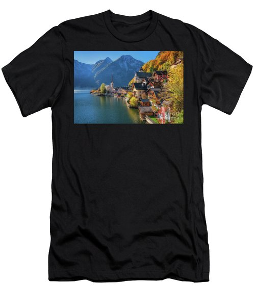 Colourful Hallstatt Men's T-Shirt (Athletic Fit)