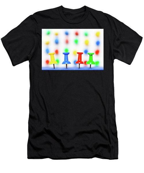 Colourful Pins. Men's T-Shirt (Athletic Fit)