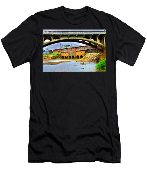 Columbia Canal At Gervais Street Bridge Men's T-Shirt (Athletic Fit)