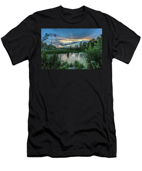 Columbia Marsh Sunset Men's T-Shirt (Athletic Fit)