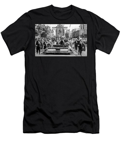 Men's T-Shirt (Athletic Fit) featuring the photograph Columbus Day Parade San Francisco by Frank DiMarco