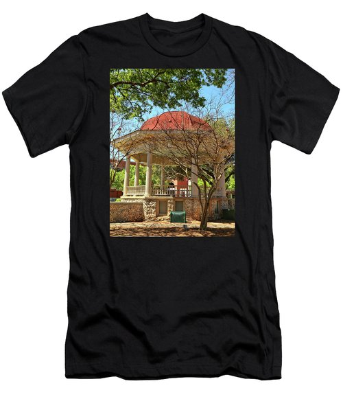 Comal County Gazebo In Main Plaza Men's T-Shirt (Athletic Fit)