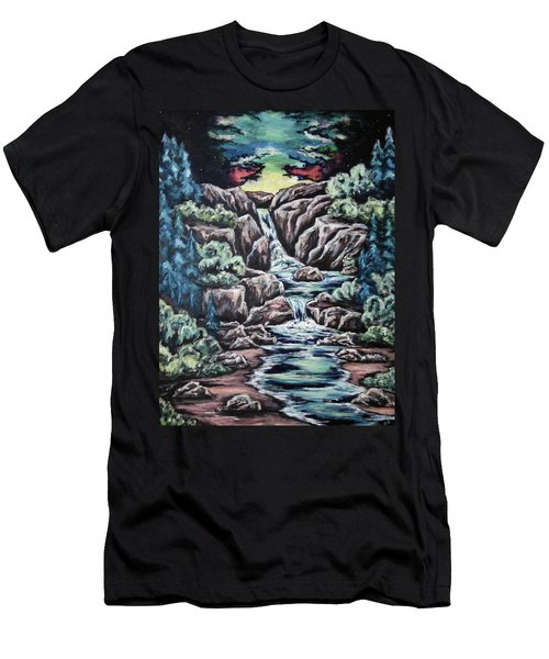 Come Walk With Me 2 Men's T-Shirt (Slim Fit) by Cheryl Pettigrew