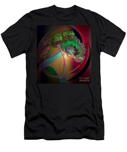 Men's T-Shirt (Slim Fit) featuring the photograph Comely Cosmos by Irma BACKELANT GALLERIES