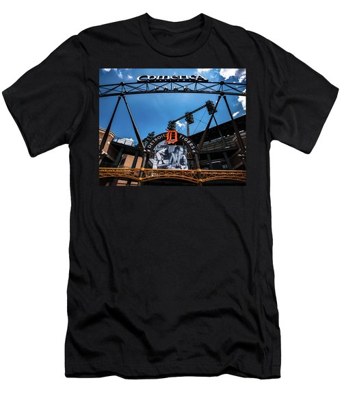 Men's T-Shirt (Athletic Fit) featuring the photograph Comerica Park by Onyonet  Photo Studios