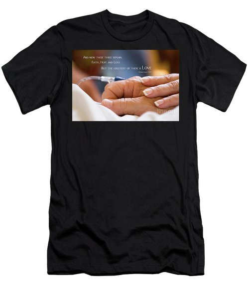 Comforting Hand Of Love Men's T-Shirt (Athletic Fit)