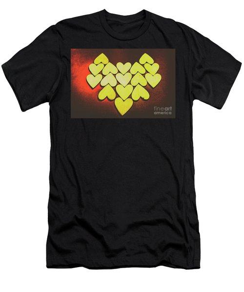 Comic Art Hearts Men's T-Shirt (Athletic Fit)