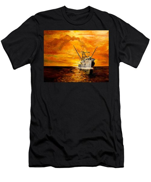 Men's T-Shirt (Slim Fit) featuring the painting Coming Home by Alan Lakin