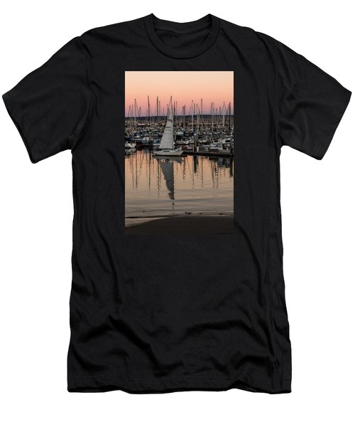 Coming Into The Harbor Men's T-Shirt (Slim Fit) by Lora Lee Chapman