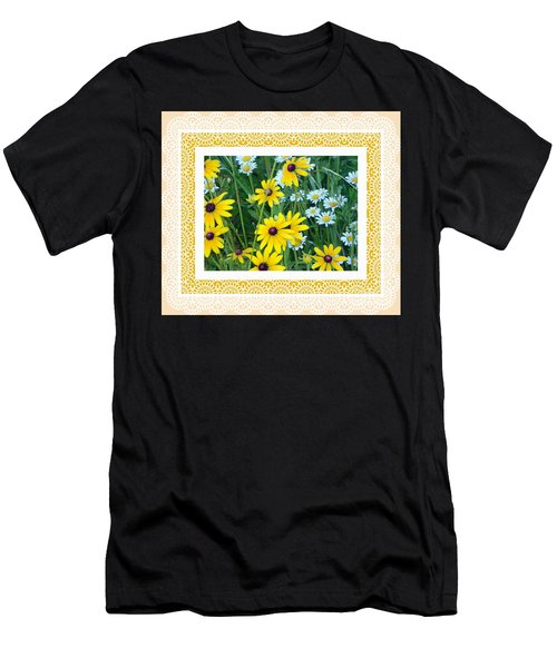 Coming Up Daisies Orange Men's T-Shirt (Athletic Fit)