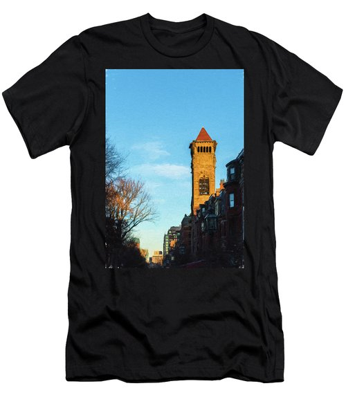 Commonwealth Avenue In Boston Men's T-Shirt (Athletic Fit)