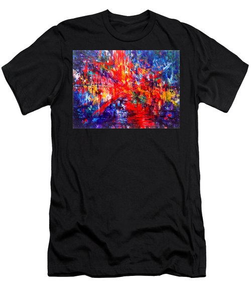 Composition # 1. Series Abstract Sunsets Men's T-Shirt (Athletic Fit)