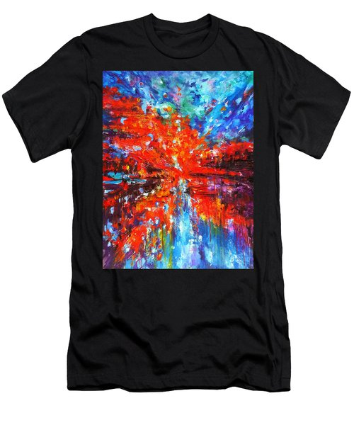 Composition # 2. Series Abstract Sunsets Men's T-Shirt (Athletic Fit)