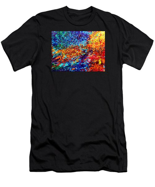 Composition # 5. Series Abstract Sunsets Men's T-Shirt (Athletic Fit)