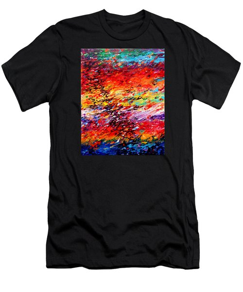 Composition # 6. Series Abstract Sunsets Men's T-Shirt (Athletic Fit)