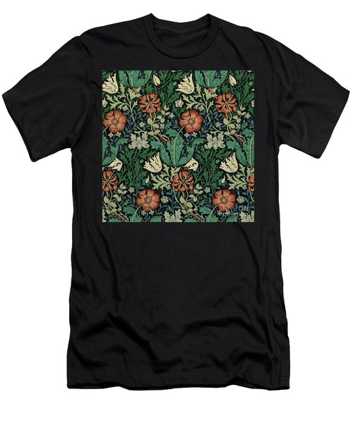 Men's T-Shirt (Athletic Fit) featuring the painting Compton by William Morris