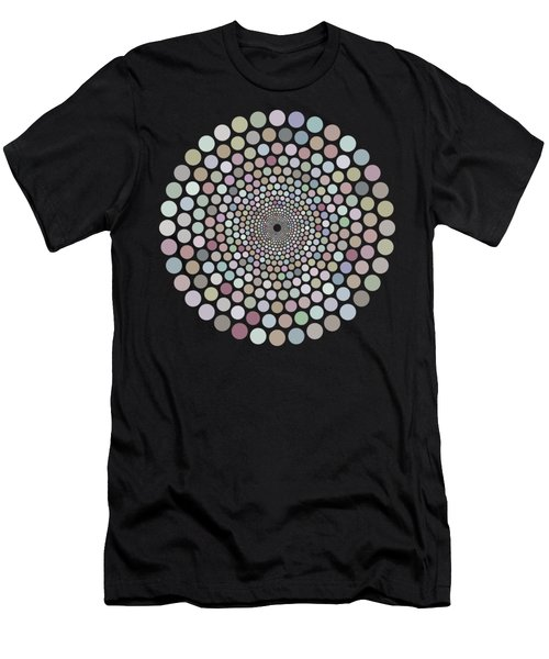 Vortex Circle - White Men's T-Shirt (Athletic Fit)