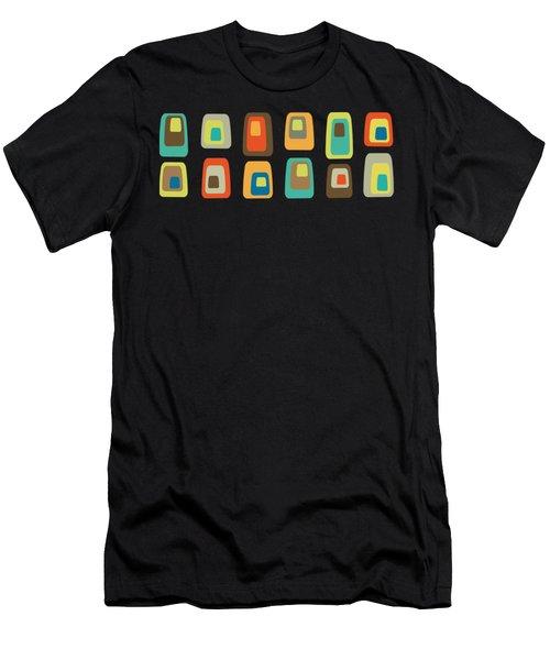 Concentric Oblongs Transparent Men's T-Shirt (Athletic Fit)