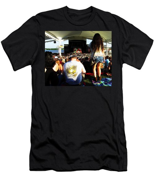 Men's T-Shirt (Athletic Fit) featuring the photograph Concert Crowd by W And F Kreations