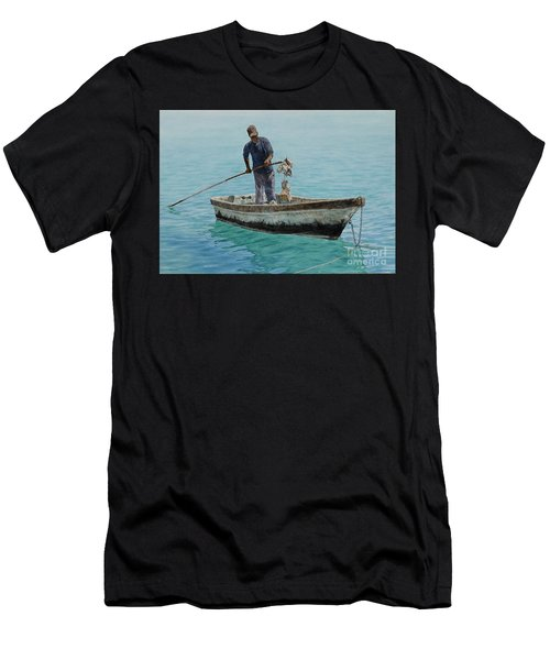 Conch Pearl Men's T-Shirt (Athletic Fit)
