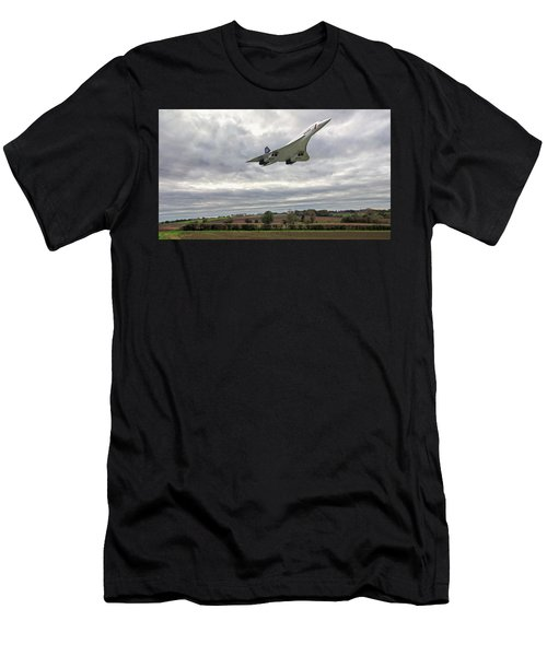 Men's T-Shirt (Athletic Fit) featuring the photograph Concorde - High Speed Pass_2 by Paul Gulliver