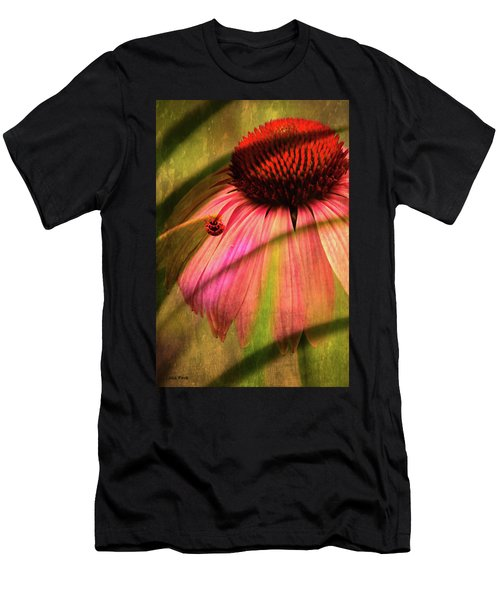 Cone Flower And The Ladybug Men's T-Shirt (Athletic Fit)