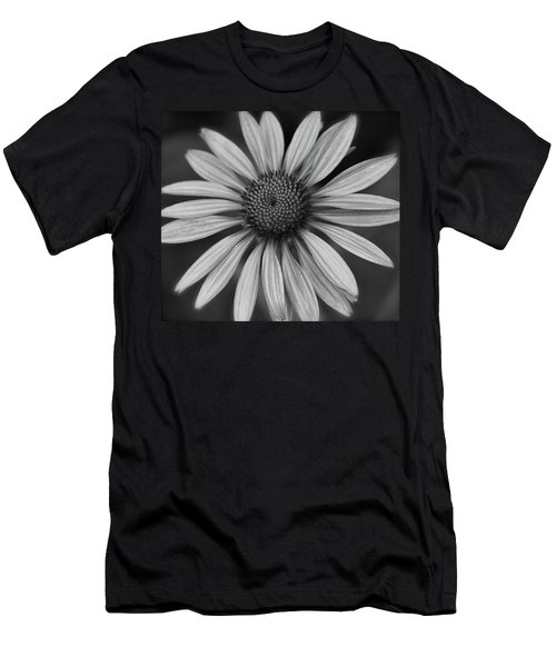 Coneflower In Black And White Men's T-Shirt (Athletic Fit)