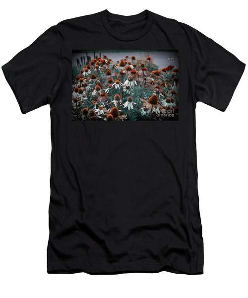 Coneflowers Bits Of Torquise Men's T-Shirt (Athletic Fit)