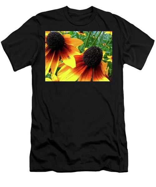 Men's T-Shirt (Athletic Fit) featuring the photograph Coneflowers by Robert Knight