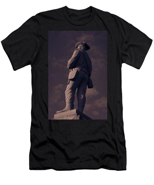 Confederate Statue Men's T-Shirt (Athletic Fit)