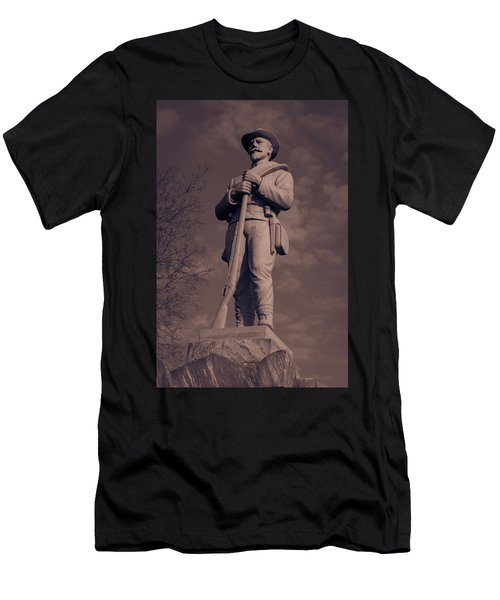 Confederate Statue  Standing Guard Men's T-Shirt (Athletic Fit)