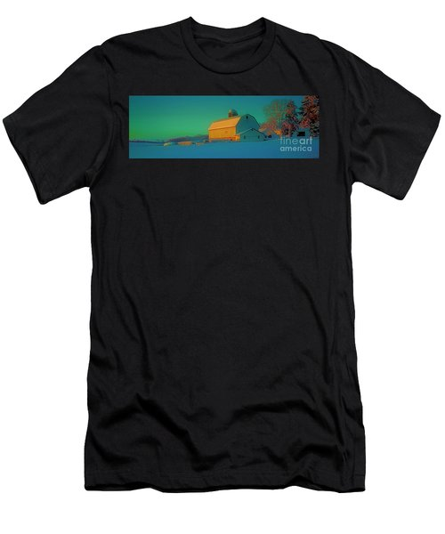 Conley Rd White Barn Men's T-Shirt (Athletic Fit)