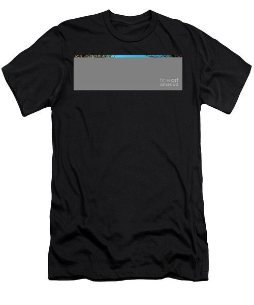 Men's T-Shirt (Slim Fit) featuring the photograph Conley Road Winter  by Tom Jelen