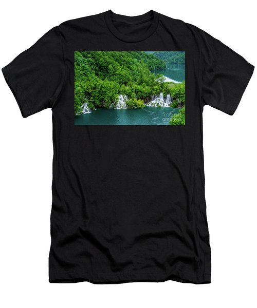 Connected By Waterfalls - Plitvice Lakes National Park, Croatia Men's T-Shirt (Athletic Fit)