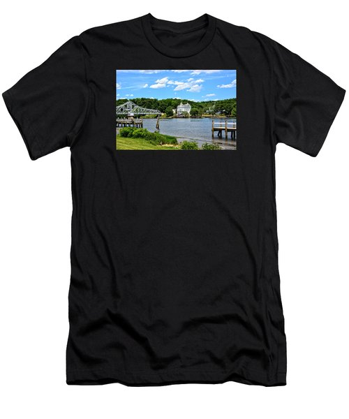 Connecticut River - Swing Bridge - Goodspeed Opera House Men's T-Shirt (Athletic Fit)