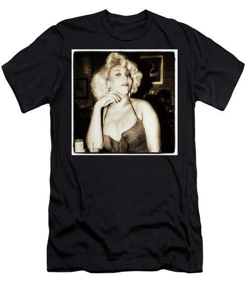 Men's T-Shirt (Athletic Fit) featuring the photograph Consuela Del Rio. Drag Mother At The by Mr Photojimsf