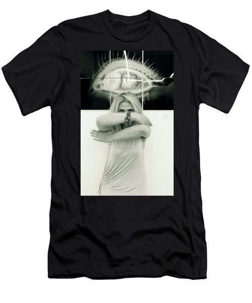 Contact Men's T-Shirt (Slim Fit) by Yelena Tylkina